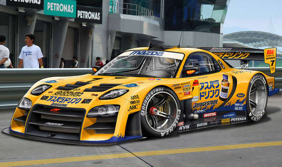Tuned Mazda RX 7 Super GT.