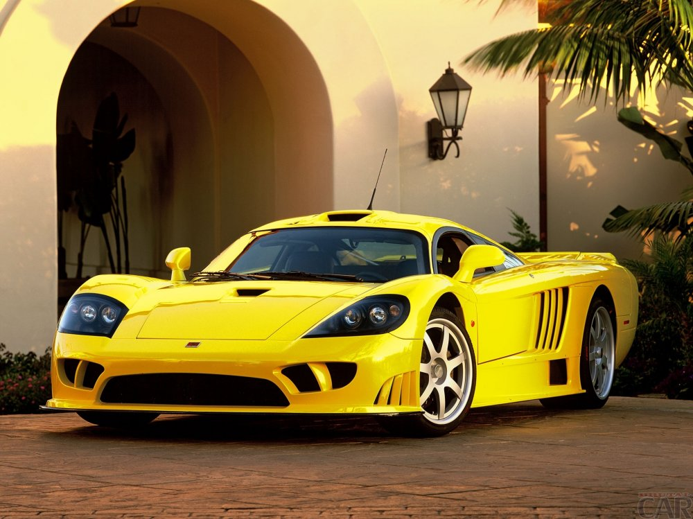 Saleen s7 sports car in yellow version