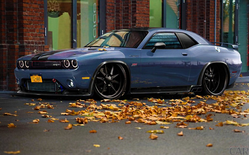 Desktop Wallpapers with extravagant powerful car Dodge Challenger.
