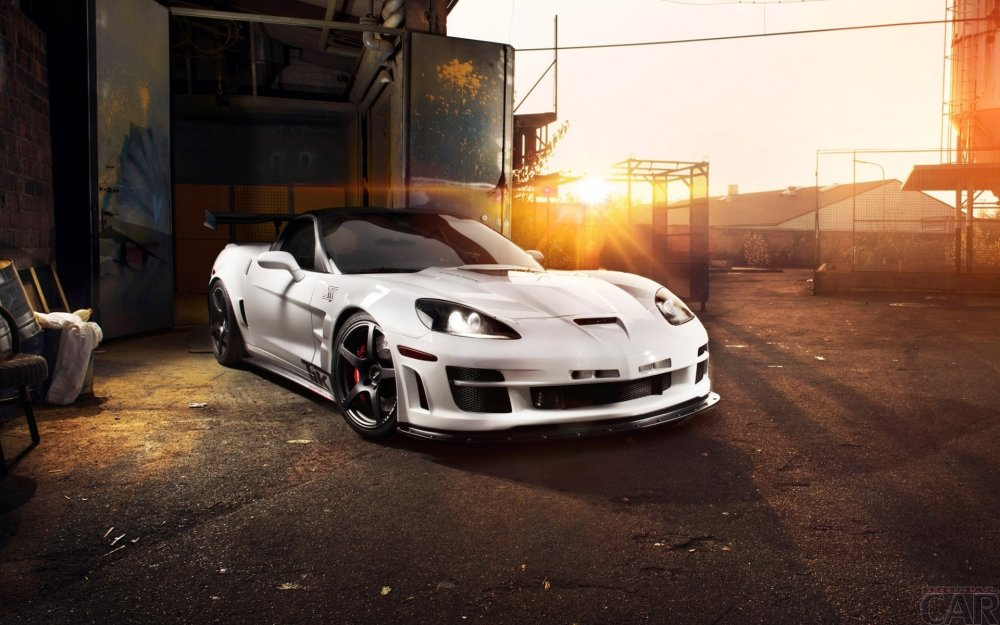 Wallpaper mit Rennwagen Corvette ZR1 Triple X