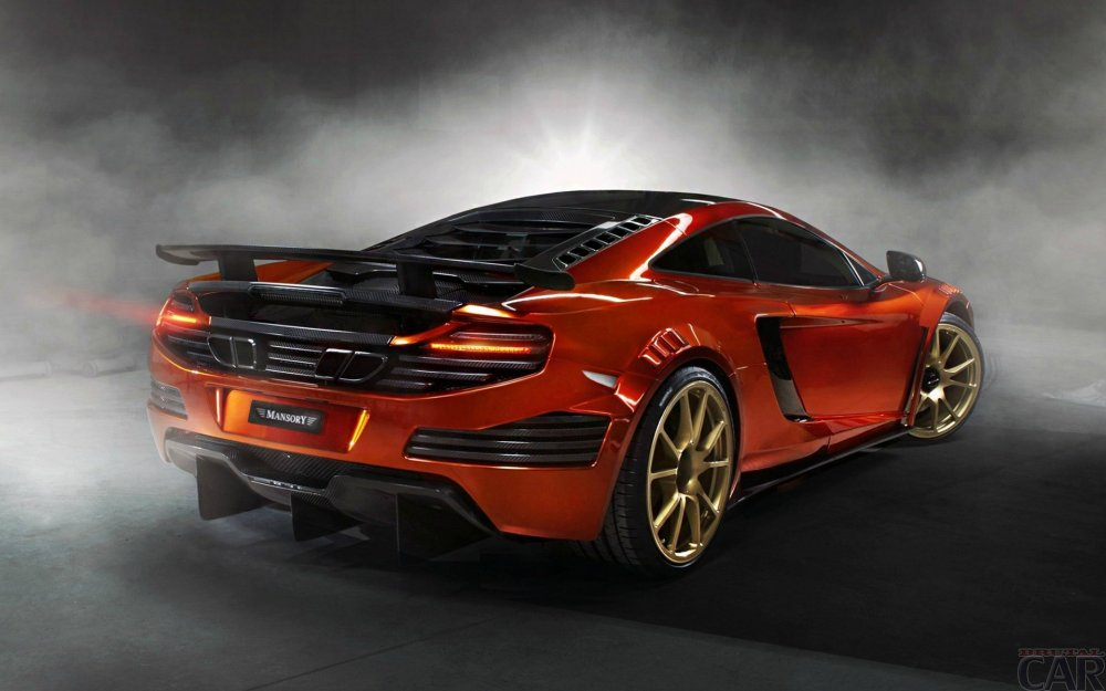 Beautiful machine with robotic futuristic view and bright serious name McLaren MP4-12C.