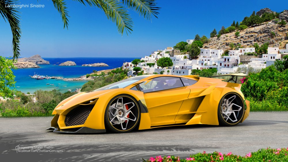 Photos of the new car Lamborghini Sinistro and his attractive and fascinating, fantastic shape.