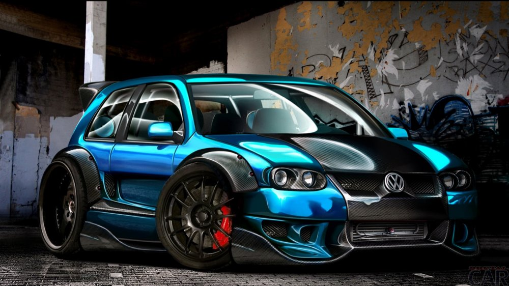 Photo de voiture de course Volkswagen Golf GTI W12 650 Concept