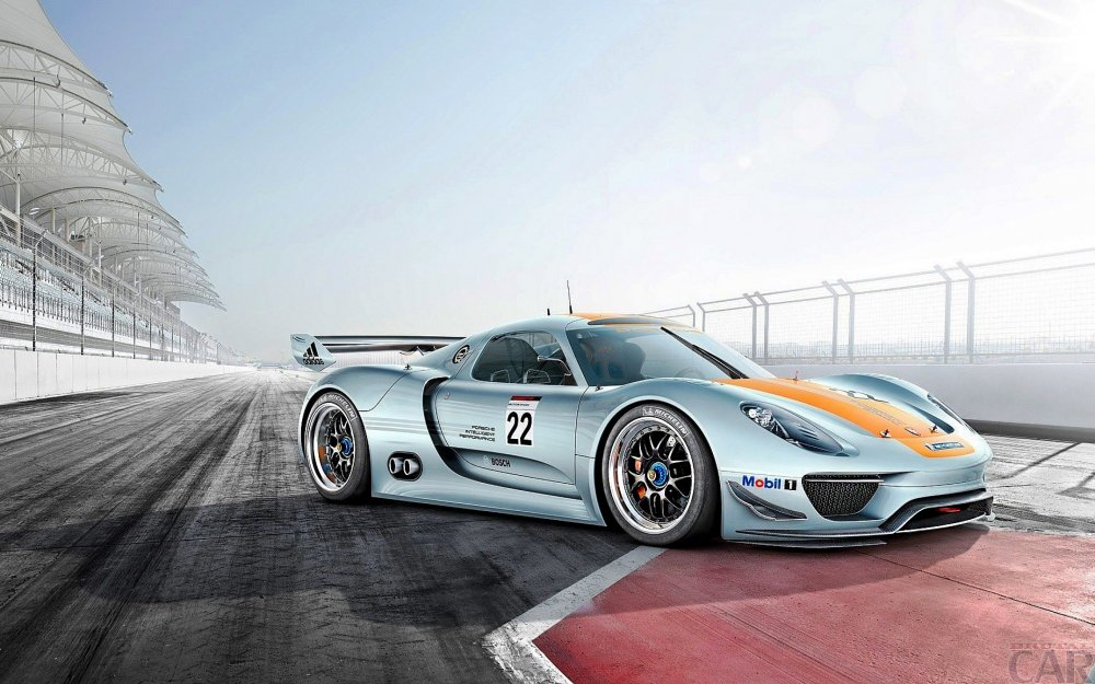 Photo beautiful car of extra class Porsche 918 RSR.