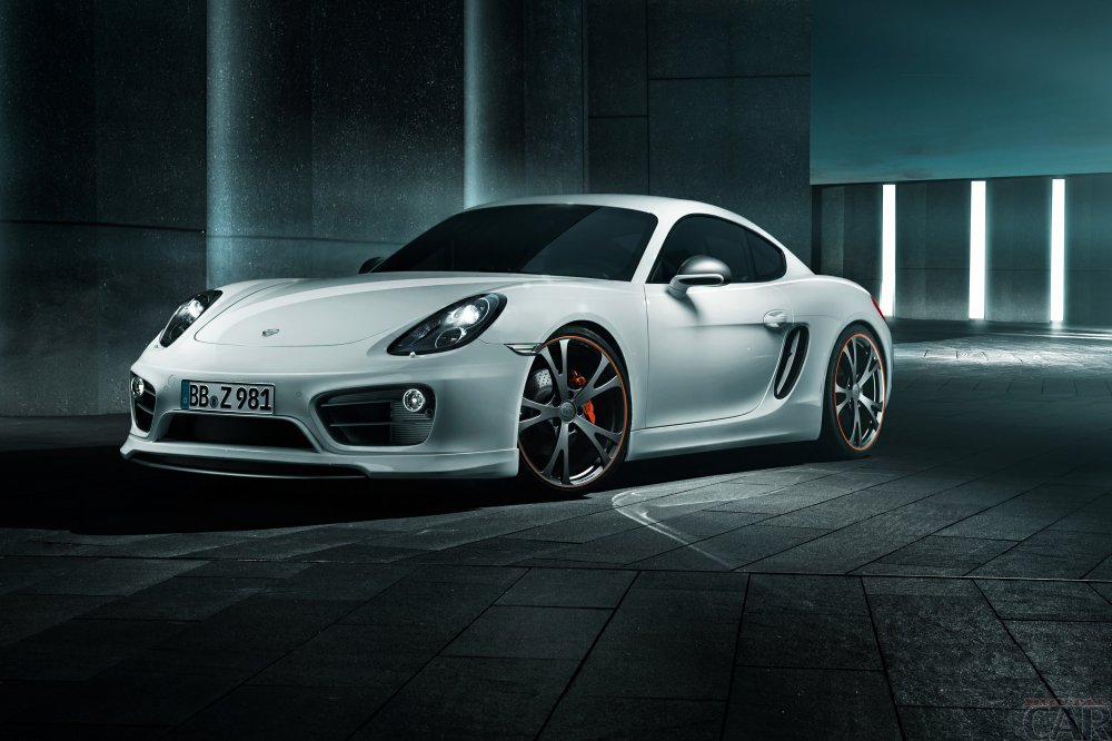Beautiful white Porsche Cayman.