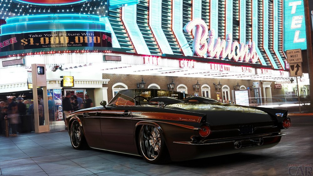 Awesome tuned car Ford Thunderbird 1955.