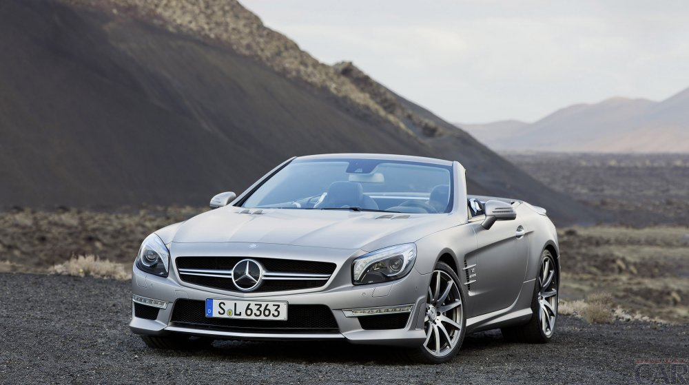 Gorgeous sparkling car mercedes sl AMG.