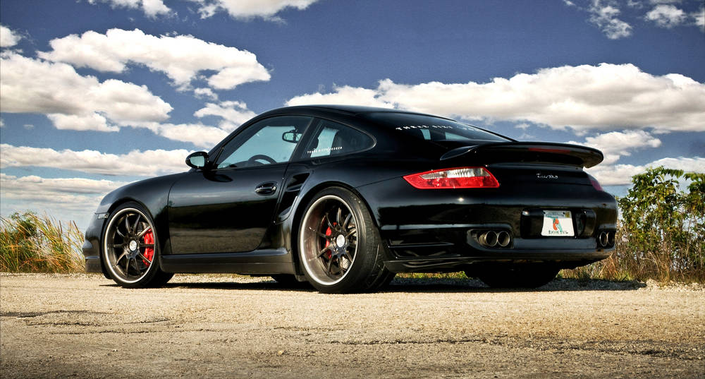Voiture de sport Porsche 997 Turbo TT.