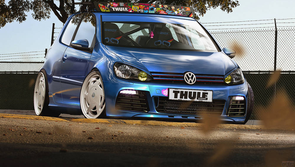 Volkswagen Golf V with a nice tuning.
