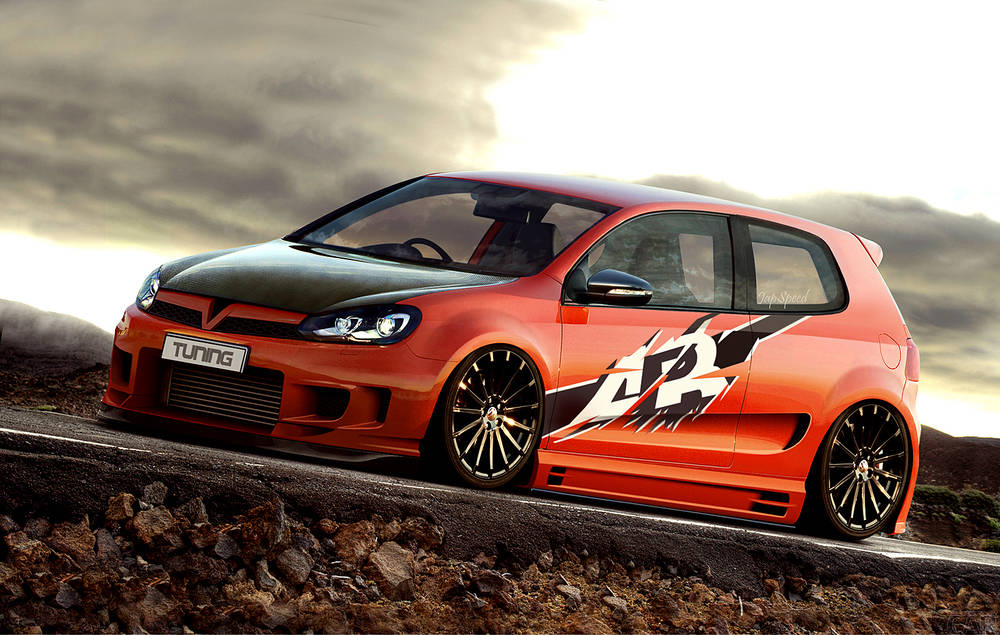 Beautiful VW Golf VI GTI.