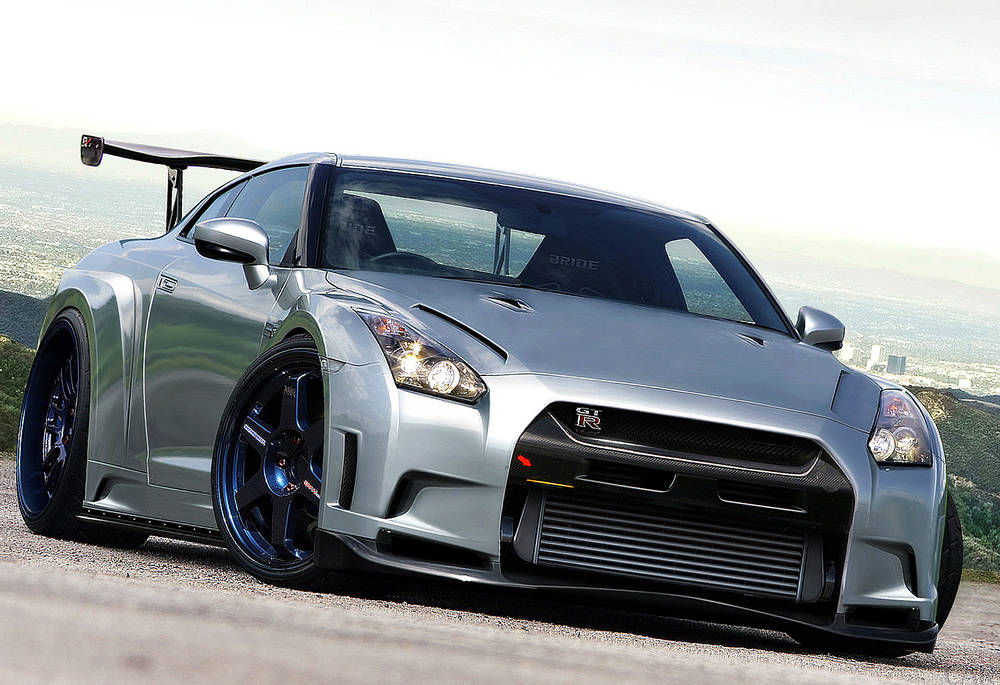 Perfect car Nissan GT-R.