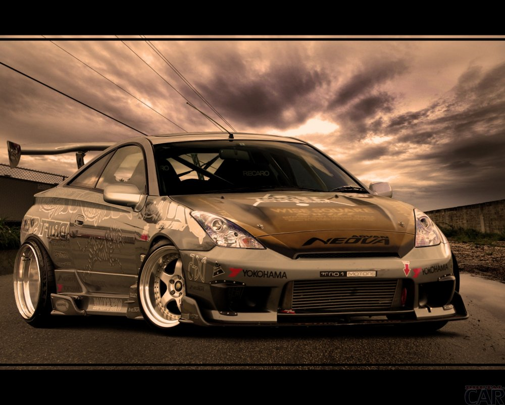 Photos from the car low landing Toyota Celica GTS