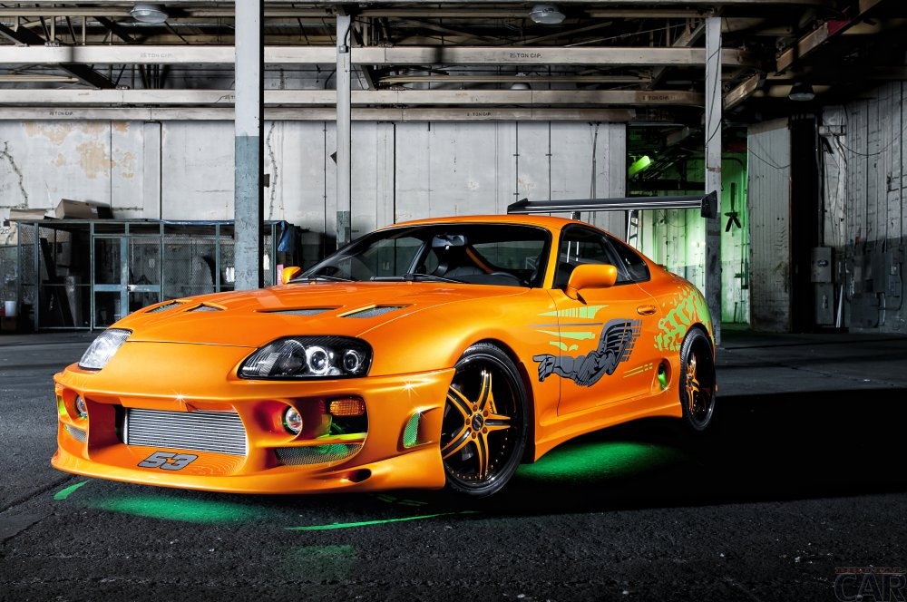 Photo toned Toyota Supra