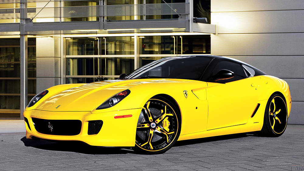 The Ferrari 599 wallpapers.