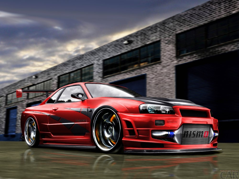 Wallpapers with consummate stallion auto Nissan Skyline GTR Z tune