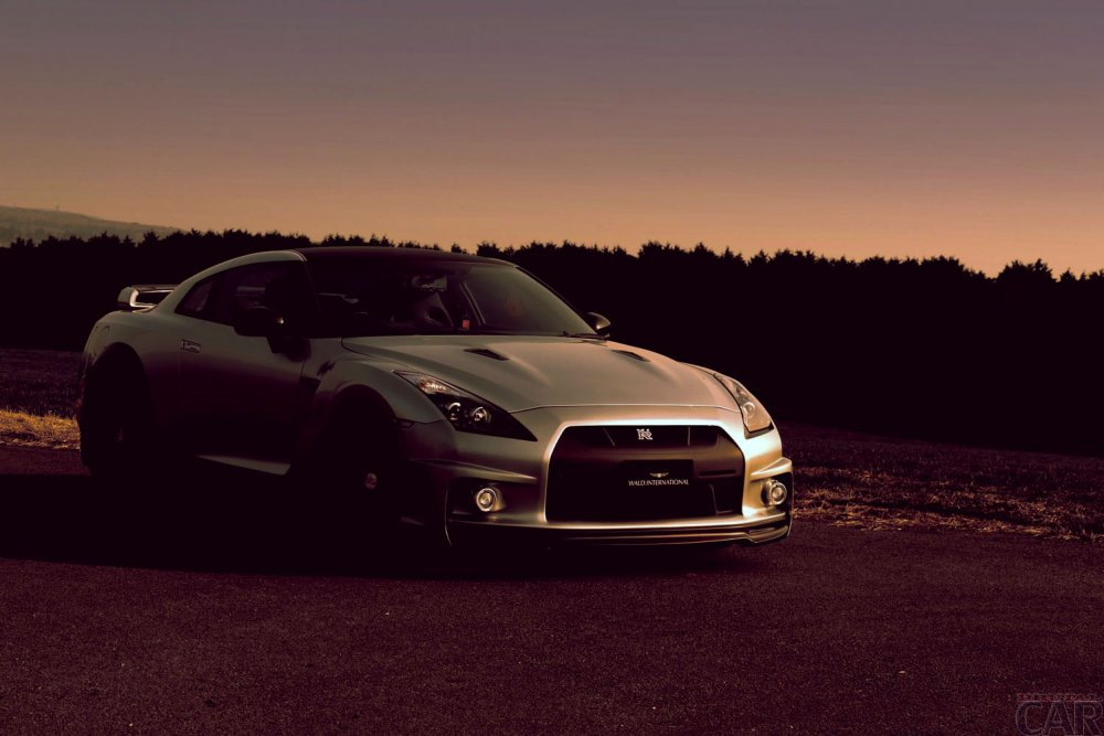 Wallpaper with super car brand Nissan GT-R SpecV