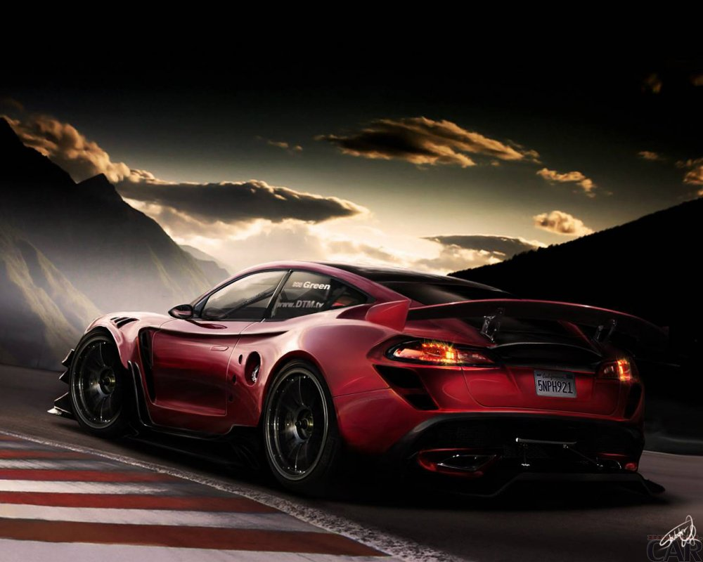 Wallpaper with a strong car consisting of adrenaline