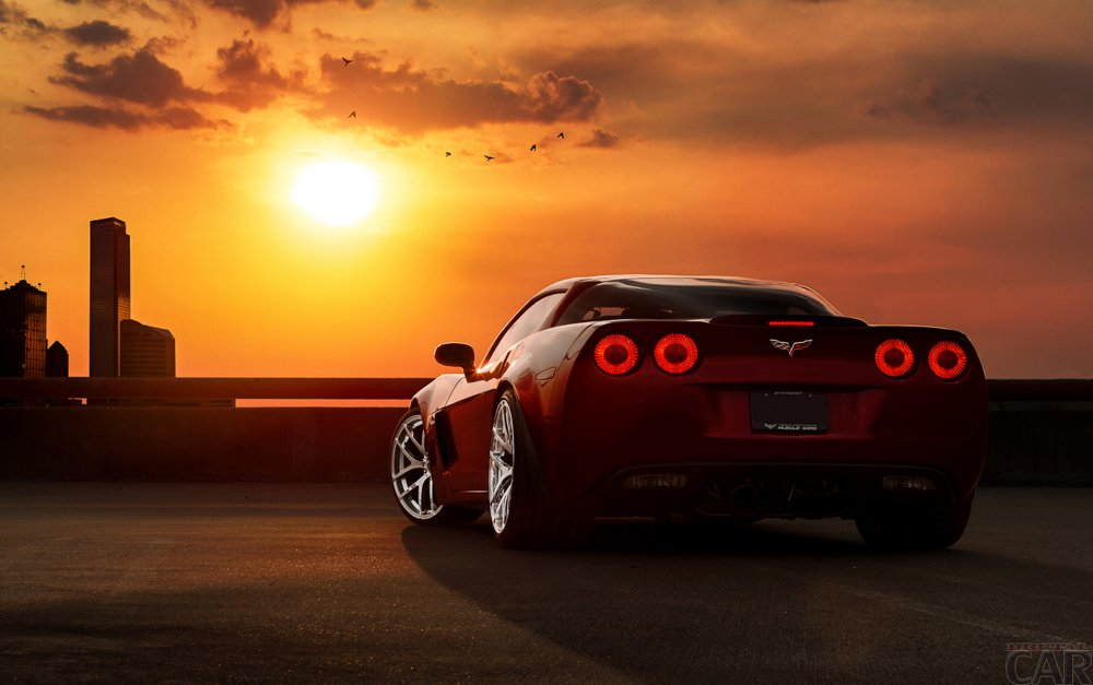 Wallpaper with a successful breeding machine Chevrolet Corvette