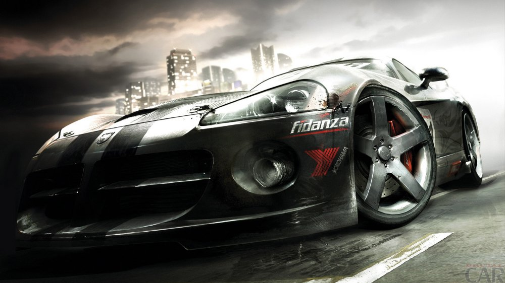 Wallpapers with tearing roaring car Dodge Viper