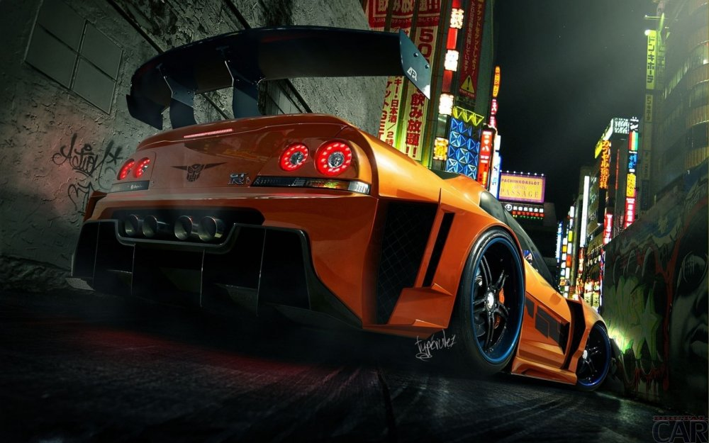 Wallpaper with instant swift car Nissan Skyline GT-R Z