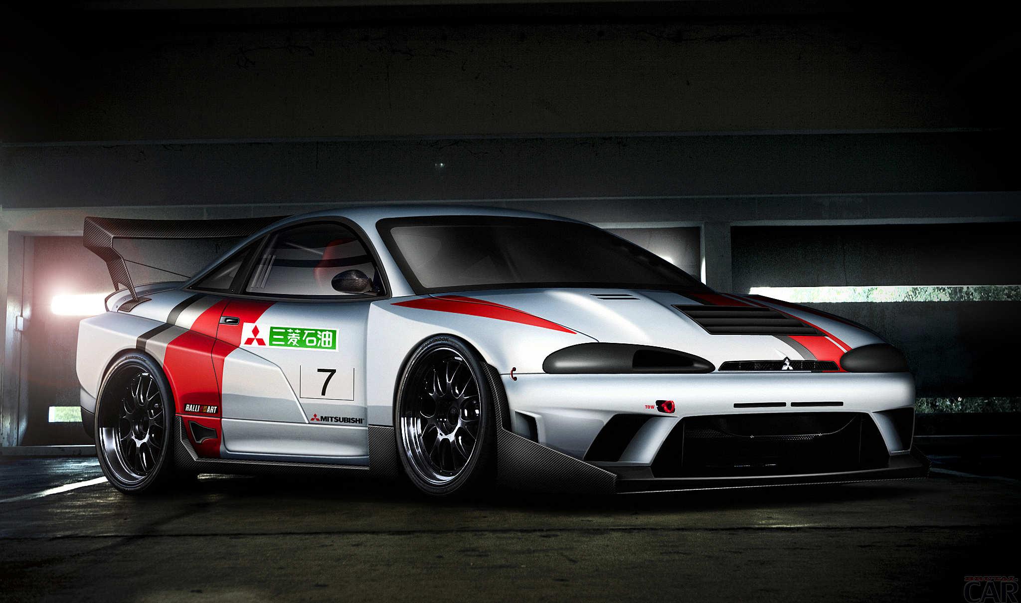 Corse Mitsubishi Eclipse. Scaricare le foto gratis HD più cool auto.