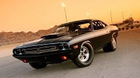 Wallpaper with the legendary classic car Dodge Challenger