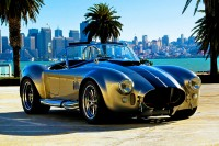 Beautiful picture with prominent auto car AC Cobra.