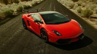 Photo on your desktop with the inexorable deadly car Lamborghini Gallardo.
