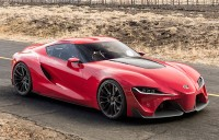 Sports car Toyota FT 1 made ​​of high-strength materials and high- crazy toppings.