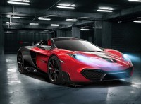 Tuning cars with wide format photo vigorous stunning car McLaren MP4 RS Roadster.