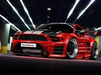 Auto photo look tuning luxurious super fast cars red.