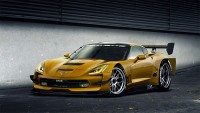Photo novelties cars in 2014, slaughter and refined Chevrolet Corvette Stingray C7.