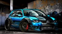 Photo racing car Volkswagen golf gti w12 650 concept