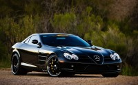 Sensitive wallpaper with a mischievous car Mercedes Benz SLR McLaren