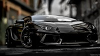 Photo agressif voiture Lamborghini Aventador LP700-4