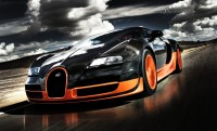 The photo is very fast and efficient machine Bugatti Veyron