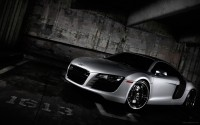 Wallpaper with a delicious blended car Audi R8 Coupe 5.2 FSI Quattro