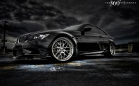 Wallpaper with a pretty car BMW 3-series E92 Coupe in the dark by
