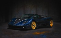 Wallpaper with a strong luxury car Pagani Zonda C12 R Roadster