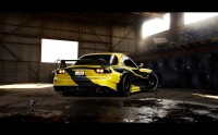 Wallpaper with a competent seasoned racer car brand Mazda RX-7 GT