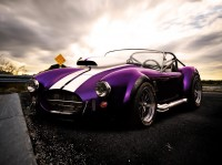 Photo heuristique aristocratique culte voiture Ford AC Cobra