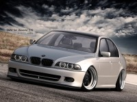 Wallpaper with the rapid durable car BMW 5 ER Bavaria E 39