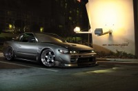 Wallpaper with a graceful grand car Nissan Silvia