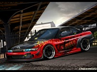 Wallpaper with a competent heroic car NISSAN SILVIA S14