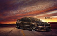 Wallpaper with a manly car Mitsubishi Lancer Evolution VIII CT230R
