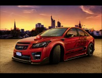 Wallpapers with stunningly transformed American car Chevrolet Cruze 1PF69I2G2 Base
