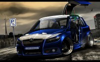 Wallpapers with inimitable car Skoda Fabia in the new supernatural appearance